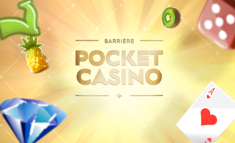 Barrière Pocket Casino, une application mobile disponible sur iOS et Androïd !